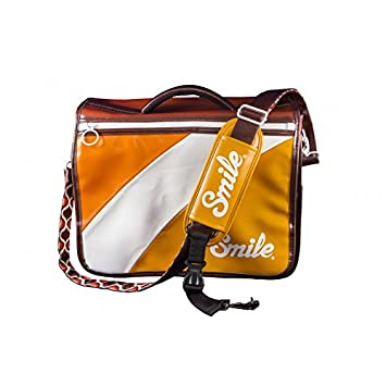 Smile - Bolsa reversible para cámara réflex (DSLR), mirrorless, compacta, estilo 70s, tamaño L