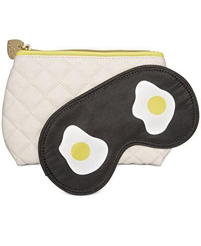 Betsey Johnson Cosmetics Case and Sleep Eye Mask (Cream)