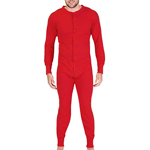 Rock Face Men's Big-Tall Union Suit Big Tall, Red, 4X-Large