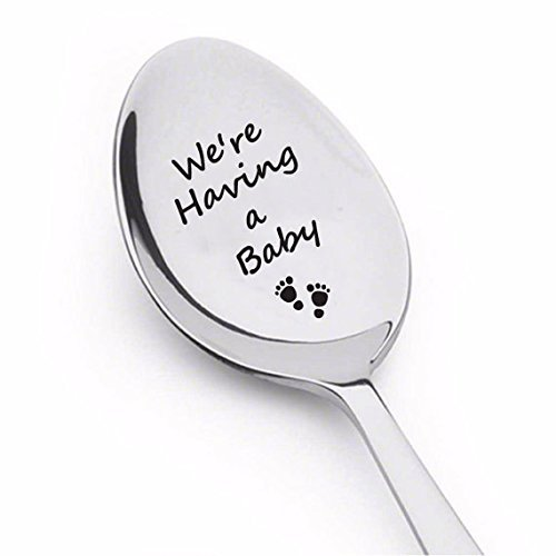 Boston Creative company LLC We are Having a Baby Spoon we are Expecting we are Pregnant We#039re Expecting were Expecting Pregnancy Announcement Pregnancy Reveal to Grandparents