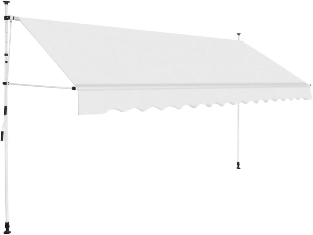 Handkurbel Balkonmarkise ohne Bohren h/öhenverstellbar Handbetrieben Klemmmarkise Galapara Klemmmarkise Balkon Polyester UV-best/ändig Cremewei/ß 150//200//250//300//350//400 cm