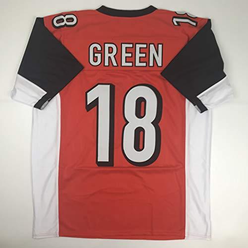 Unsigned AJ A.J. Green Cincinnati Orange Custom Stitched Football Jersey Size Men's XL New No Brands/Logos