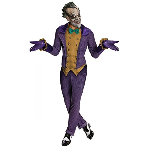 Joker Men's Adult Arkham City Batman Costume One Size (Joker Arkham City Costume)