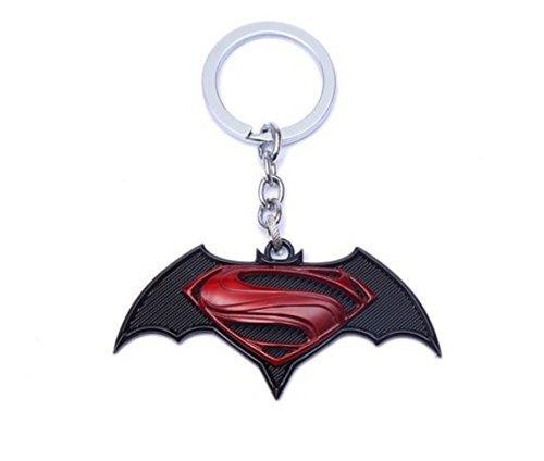 [Asteriated DC Comics Batman V Superman Symbol Metal Pendant Keychain keyring (Style2)] (Knight Family Costume)