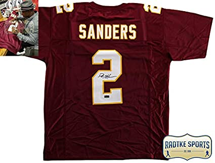 1b942b29f Image Unavailable. Image not available for. Color  Deion Sanders  Autographed Signed Florida State Maroon Custom Jersey