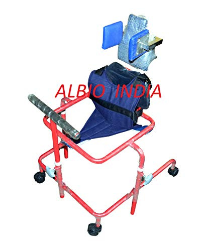 Albio CP Walker Child – Height Adjustable Cerebral Palsy Walker with Head Rest & Body Supporting Chest Belt