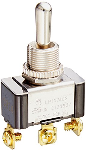 Hubbell HBL123MM Panel Switch, Single Pole Double Throw, Momentary, Screw Terminal (Nickel Switch Hubbell)