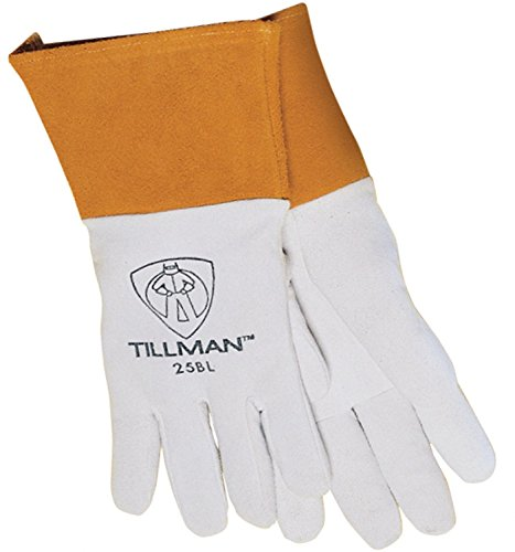 John Tillman & Co 25BM Medium Pearl Split Deerskin Unlined Premium (Deerskin Welding Gloves)