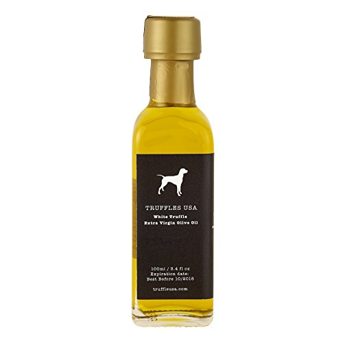 (TRUFFLES USA Premium White Truffle Oil 3.4 fl oz - Truffle Infused Extra Virgin Olive Oil - Imported from Italy and Made with Rich, Natural Ingredients)