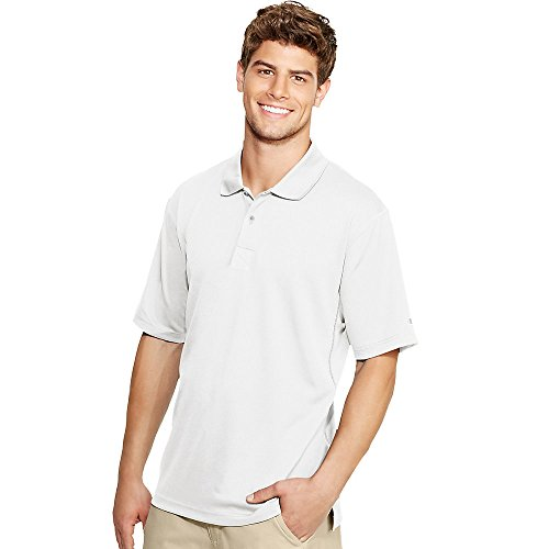 Champion Double Dry Men's Solid-Color Polo Shirt_White_Small ()
