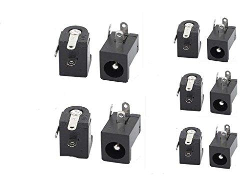 110PCS 2.1mm x 5.5mm Barrel-Type PCB Mount DC Power Jacks Sockets DC-005 Oulet
