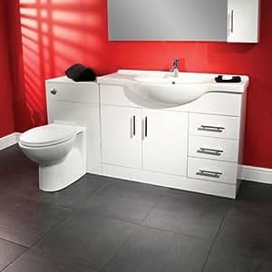 105 ba o wc mueble para ba o con inodoro trueshopping for Amazon muebles de bano