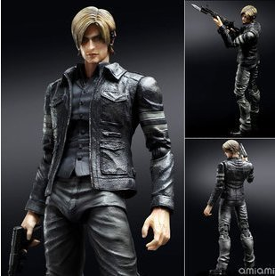 Square Enix BioHazard 6 Resident Evil Play Arts Kai Leon S. Kennedy 23cm/8.7'' Action Figure Loose by mao