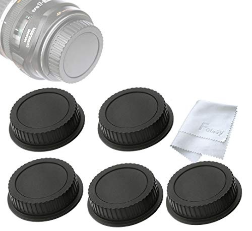 Fotasy Rear Lens Cover for Canon EF EFs Lenses, Canon Lens Rear Caps, Canon Lens Rear Cap (5 Packs)