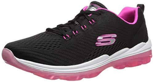 Skechers Women's Skech-AIR Deluxe-NIGHTTIDE Sneaker, Black hot Pink, 10 M ()