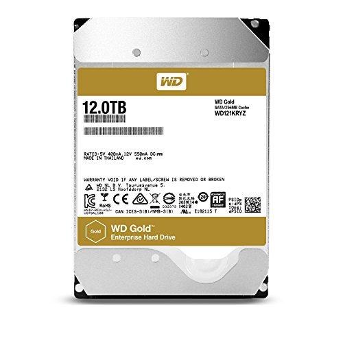 WD Gold 12TB Enterprise Class Hard Disk Drive - 7200 RPM Class SATA 6 Gb/s 256MB Cache 3.5 Inch - WD121KRYZ