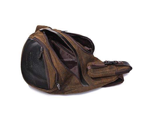 Zenness Fashion Triangle Bag Brusttasche Canvas Umhängetasche Rucksack