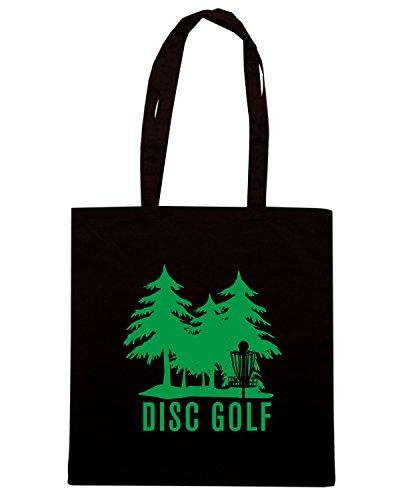 T-Shirtshock - Bolsa para la compra FUN1226 disc golf goal digital decal 6 07564 Negro