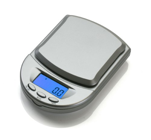 (American Weigh Scales BCM-650-SL Pocket Size Digital Scale, 650gm Capacity, Silver)