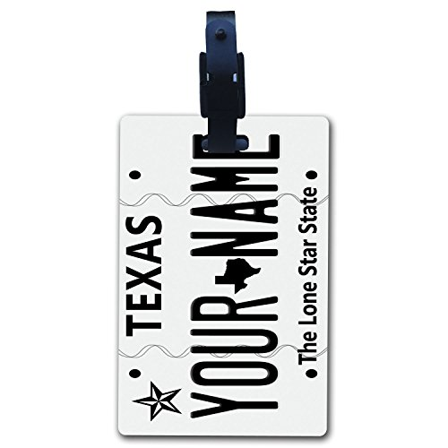 BleuReign(TM Personalized Custom Name 2009 Texas State License Plate Luggage Tag with Strap