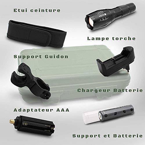 Lampe militaire ultra puissante avec Coffret lampe torche accessoires militaire-Lampe de poche rechargeable et batterie… 3