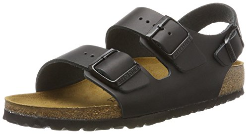 Birkenstock Women´s Milano Black Leather Sandals 37 Schmal N 034193 by Birkenstock