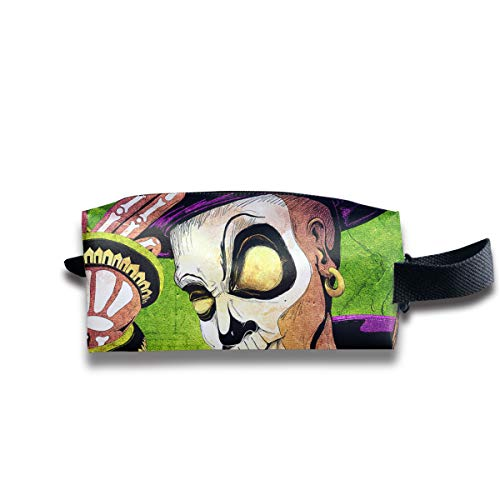 Wpipbag Mardi Gras Carnival Jester Women's Makeup Bag Small Cosmetic Pouch Waterproof Toiletries Organizer Bag for -