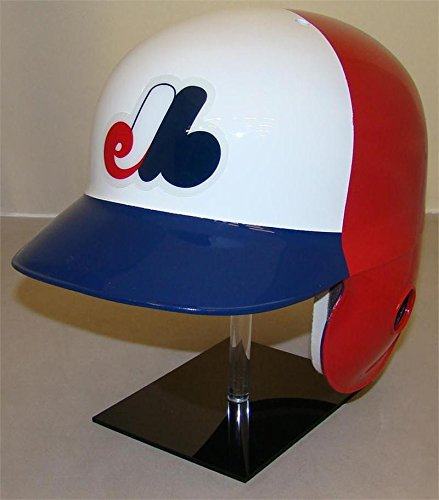 Rawlings Montreal Expos Throwback 3 Color Official Batting Helmet (Left Flap for Right Handed Batter)