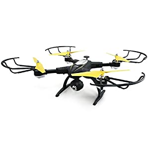 Rabing RC Drone Foldable FPV VR Wifi RC Quadcopter 2.4GHz 6-Axis Gyro Remote Control Drone with 720P HD 2MP Camera Drone (Black) from Rabing
