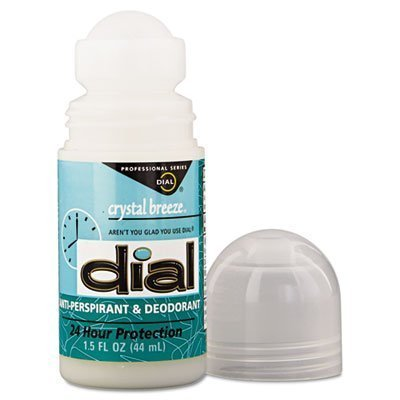 - Dial Crystal Breeze Anti-Perspirant Deodorant Roll-On - 1.5 oz - Case/6