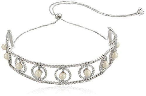 Carolee pearl manor adjustable choker necklace, (Carolee Womens Pearl Choker Necklace)