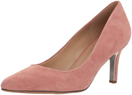 Naturalizer Women's Natalie Pump, Pink Suede, 6.5 Wide US (Naturalizer Suede Shoes)