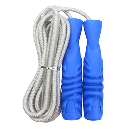GGDD FIT Speed Jump Rope with Carrying Pouch for Adults - Comfortable Ball-Bearing Handle and Adjustable Cotton Rope - Great for Cardio Training, Boxing, and MMA Workouts ()