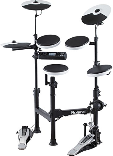 Roland TD-4KP Electronic Drum Set Bundle with 3 Pairs of Sticks, Audio Cable, and Austin Bazaar Polishing Cloth