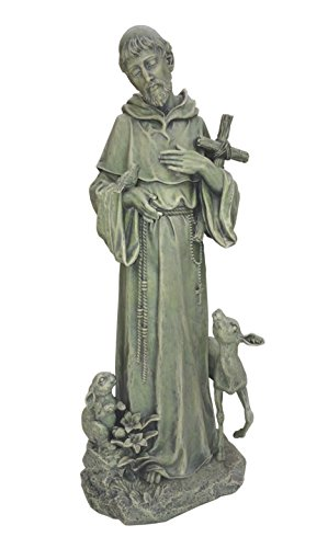 St. Francis Statue with Cross and Animals