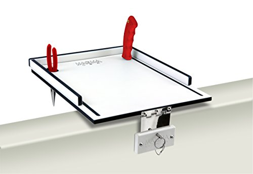 (Magma Products, T10-311B Econo Mate Bait and Filet Table, White/Black, 12-Inch)