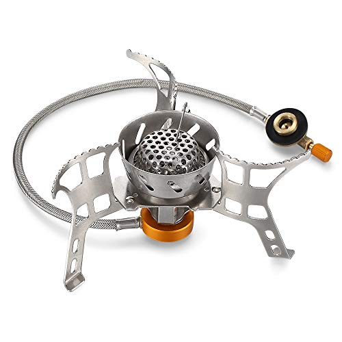 FavsonOPPD Outdoor Portable Folding Windproof Split Stove Camping Gas Burner
