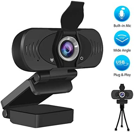 PC Webcam 1080PMic Live Streaming USB Desktop Laptop Camera Plug and Play Video Calling Webcam for Web Conference Teaching Streaming and Gaming
