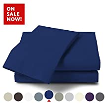 Bamboo Comfort Originals Bedding - Micro-Bamboo 4 Piece Bed Sheet Set - Feel the Difference (Navy, King)