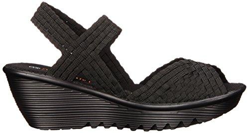 Bernie Mev Women's Fame Wedge Sandal Black Inexpensive cheap price best wholesale cheap price NeIUvgP