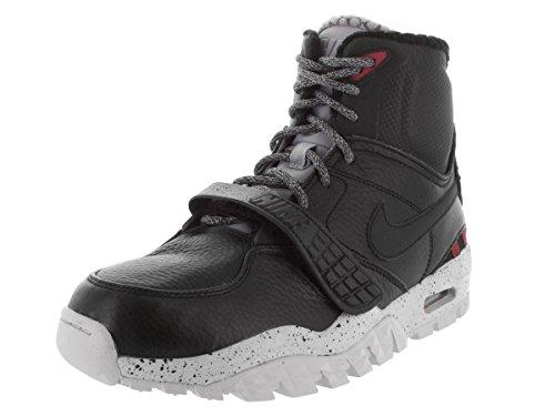 Nike Air Trainer Sc 2 Boot, Botas de Fútbol para Hombre Negro / Plateado / Gris (Black / Black-Pr Pltnm-Wlf Gry)