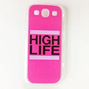 GHK - Fashion Word Personality Design Plastic Hard Case for Samsung S3 I9300 , Multicolor