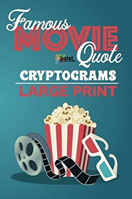 Famous Movie Quote Cryptograms Large Print 137 Cryptoquotes From
