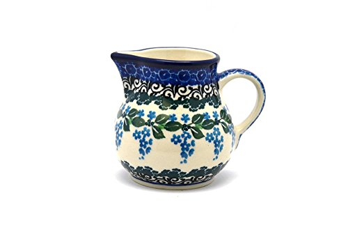 Polish Pottery Creamer - 4 oz. - Wisteria