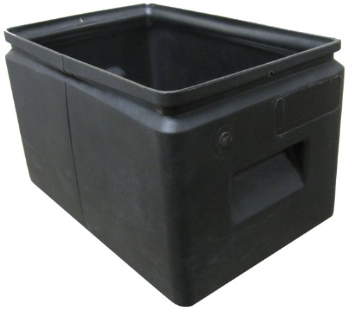 Forte Products 8001257 All Purpose Plastic Storage Bin, 14.5'' L x 9.5'' W x 9'' H, Black (Case of 12) by Forte Products