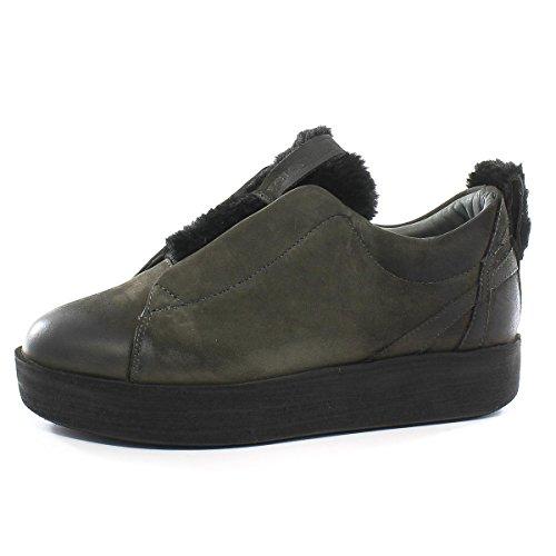 Andia Fora Sneaker Libi Pelliccia Roxy Nero I-Nabuk Antracite I-Nabuk Antracite