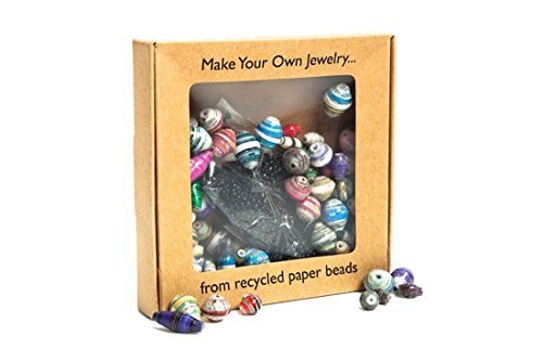 Fair Trade Recycled Paper Bead Jewelry Kit