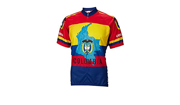 49534f271e9 Amazon.com  World Jerseys Colombia Cycling Jersey Mens Short Sleeve   Clothing