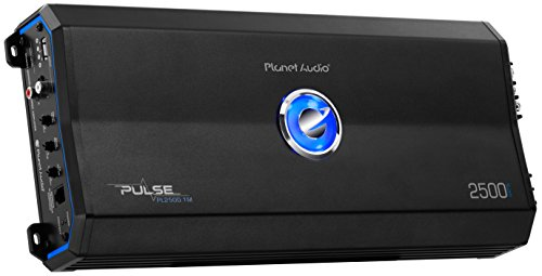 Planet Audio PL2500.1M Pulse 2500 Watt, 2 Ohm Stable Class A/B, Monoblock, Mosfet Car Amplifier with Remote Subwoofer Control