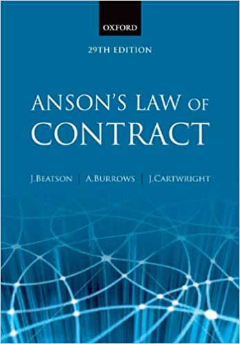 Anson's Law of Contract: Amazon co uk: Jack Beatson FBA